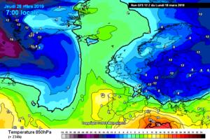 Aria gelida verso l'Italia a fine mese
