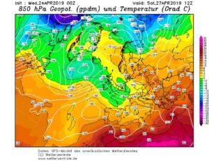 Meteo week end 27-28 aprile 2019: ci risiamo con la clamorosa botta di neve in arrivo