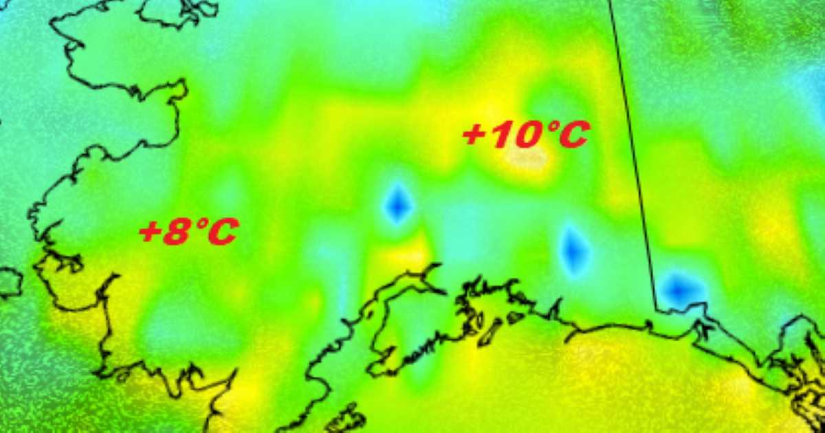 Caldo anomalo a Marzo 2019 in Alaska