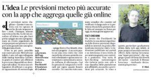 Il Messaggero dedica un articolo a MeteoDrome