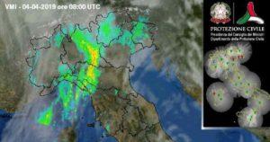 Immagini radar pioggia Giovedì 04 Aprile
