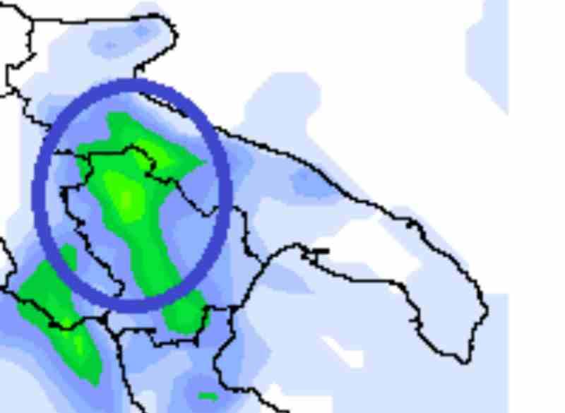 Week-end 6-7 Aprile: le zone più a rischio forti precipitazioni