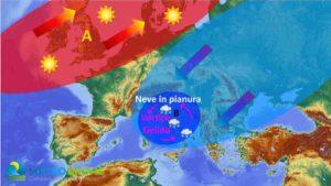 Meteo Italia 24-25 Marzo 2020: NEVE imminente fino alle COSTE, ecco dove