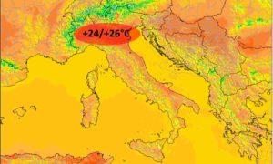Meteo Weekend 24-26 Aprile: bel tempo e forte aumento delle temperature