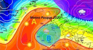 METEO PASQUA 2020: ITALIA contesa tra ANTICICLONE e GOCCIA FREDDA, chi la spunterà?